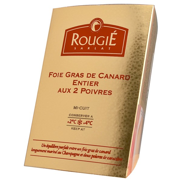 Foie gras de pato entero 2 pim.+champ.180g