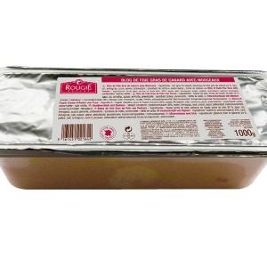 Bloc foie gras de pato con trozos 1kg